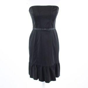 Black WHITE HOUSE BLACK MARKET ruffled dress 6